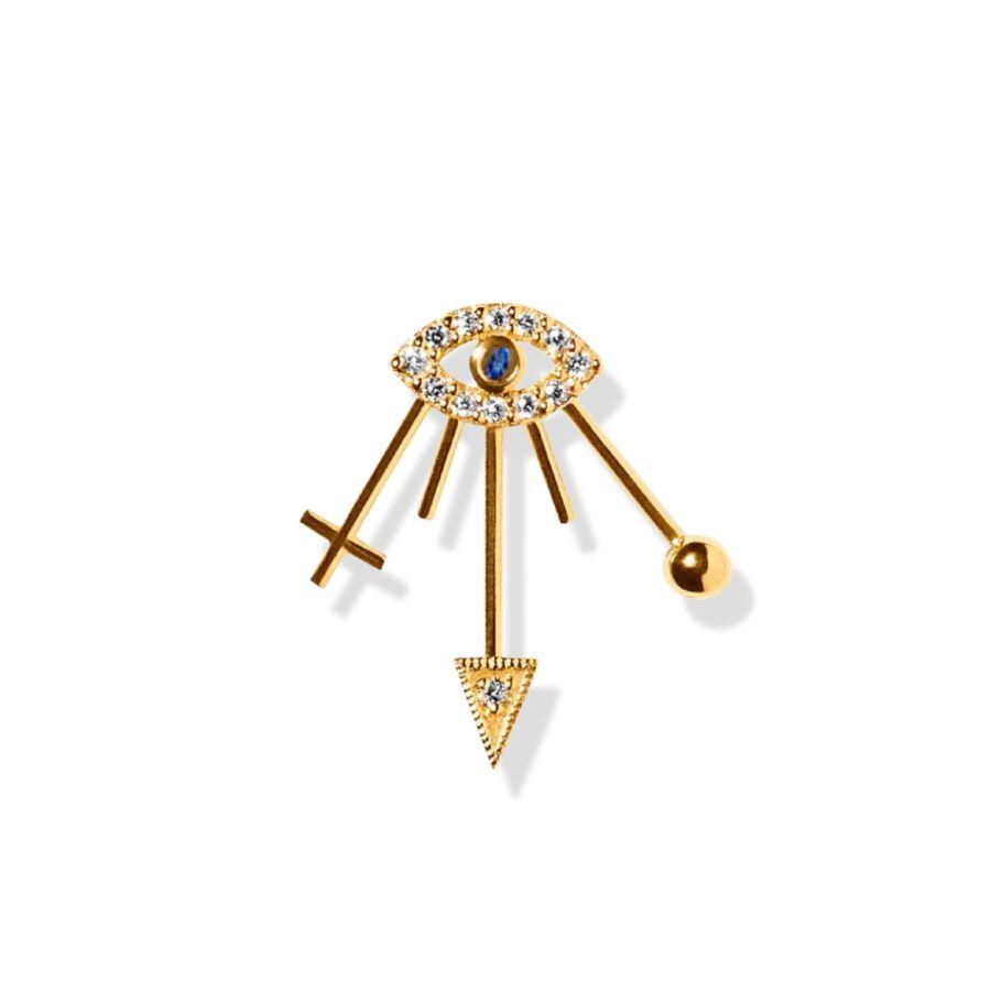 MISS EYLIE gold diamond sapphire