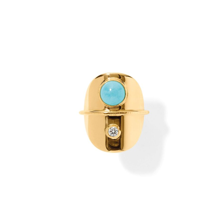 MISS RATIO gold turquoise diamond