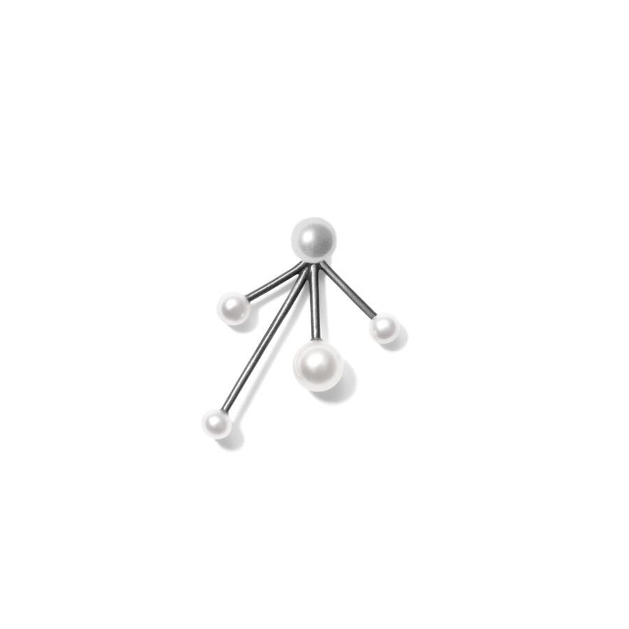 MISS ERIANNE + MISS EAR TWO grey white pearl
