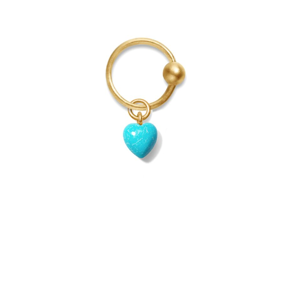 MISS PALORI TURQUOISE gold (round) </p> for earrings
