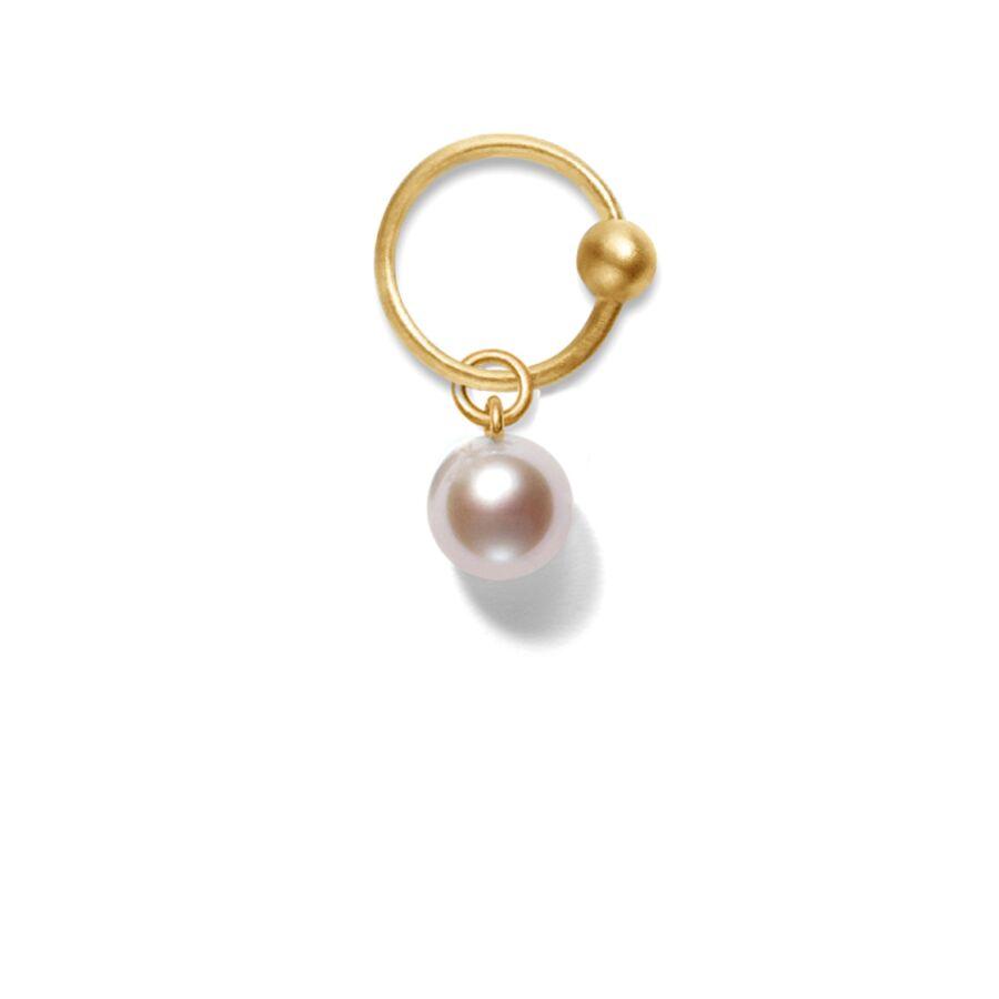 MISS PEARL PINK gold (round) </p> til øreringe
