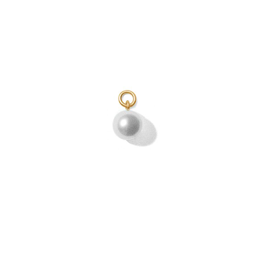 MISS PEARL WHITE gold (round) </p> til øreringe