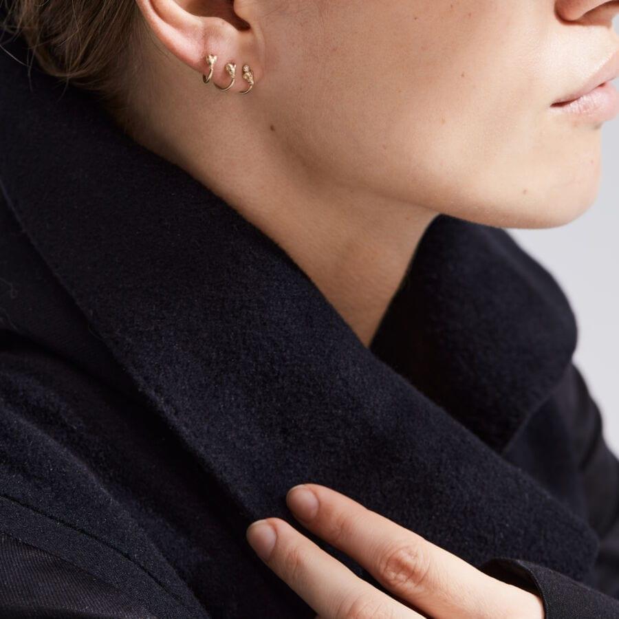 MISS EARLYWINE gold </br> ideel til helix piercinger