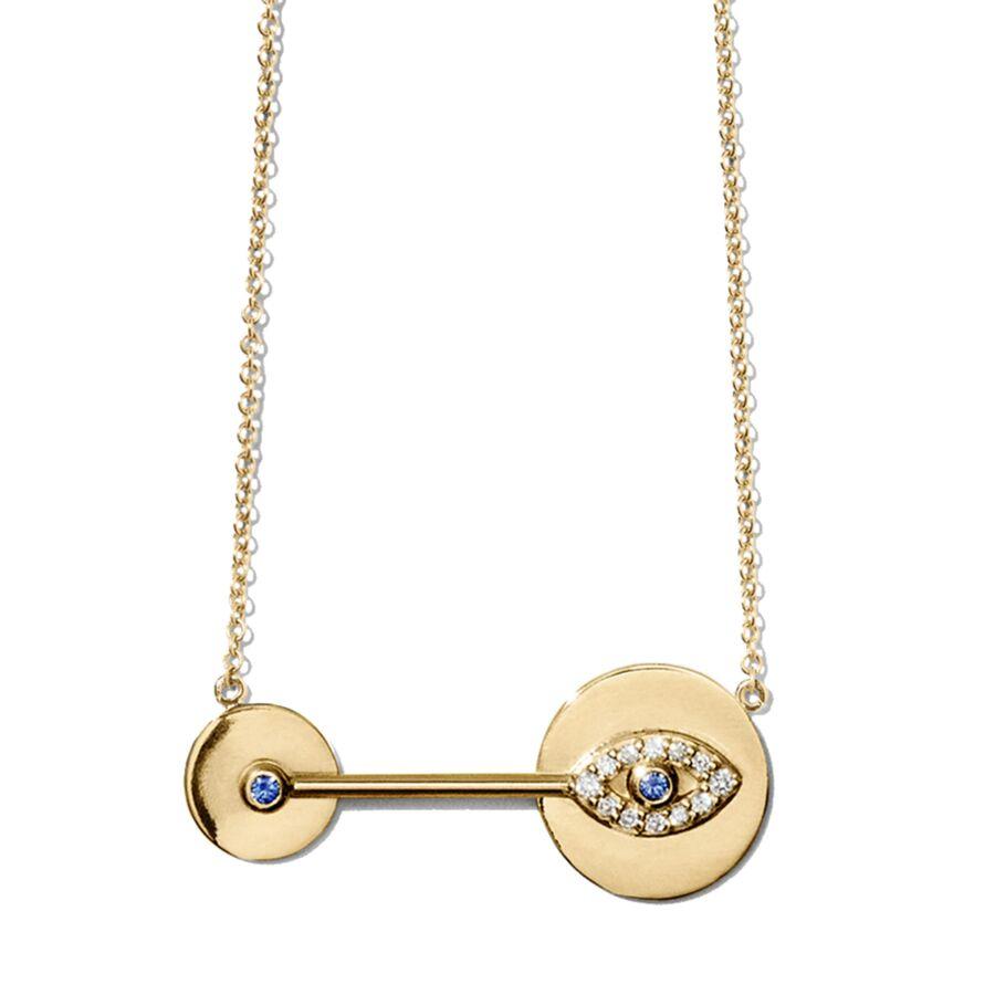 MISS NILE gold diamond sapphire