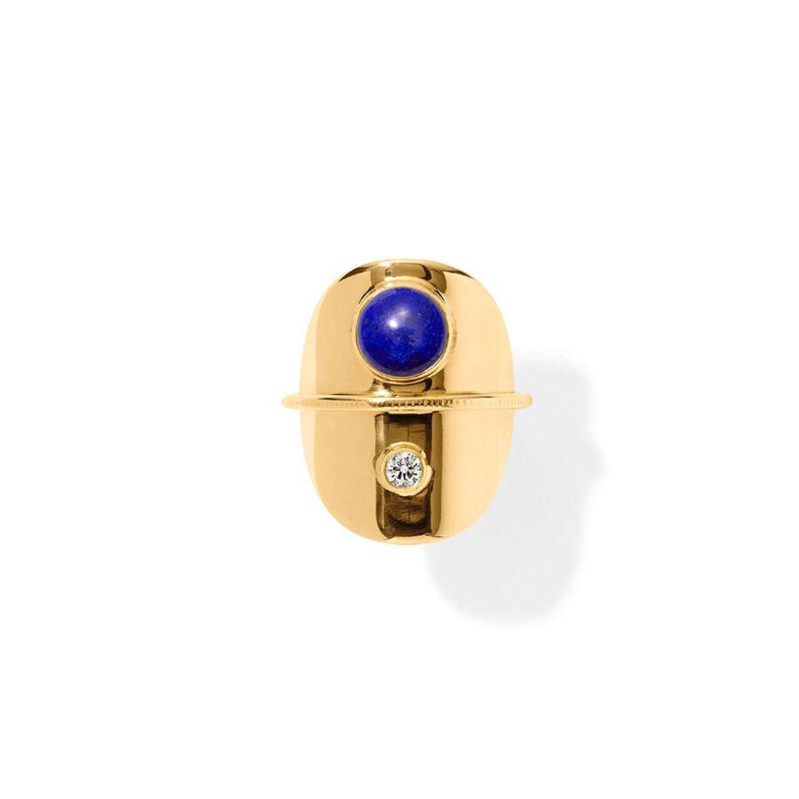 MISS RATIO gold lapis lazuli diamond