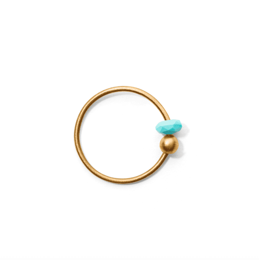 MISS ELLY THREE gold turquoise