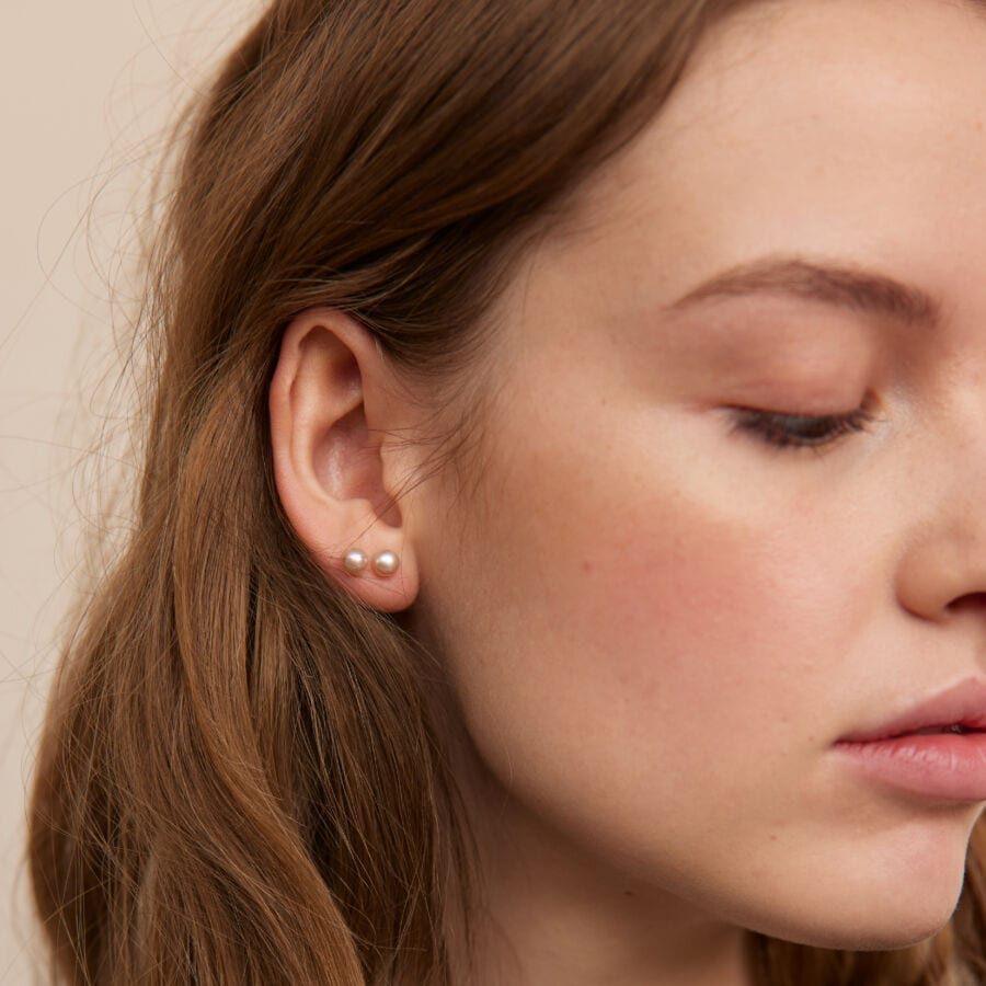 MISS EAR TWO high polished pink pearl