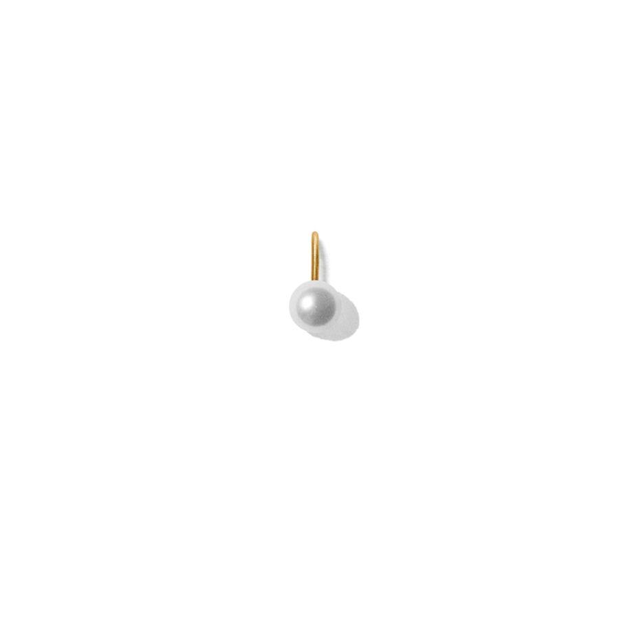 MISS PEARL WHITE gold (oval) </p> til halskæder