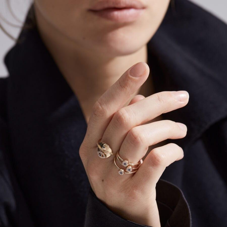 MISS RE gold diamond sapphire