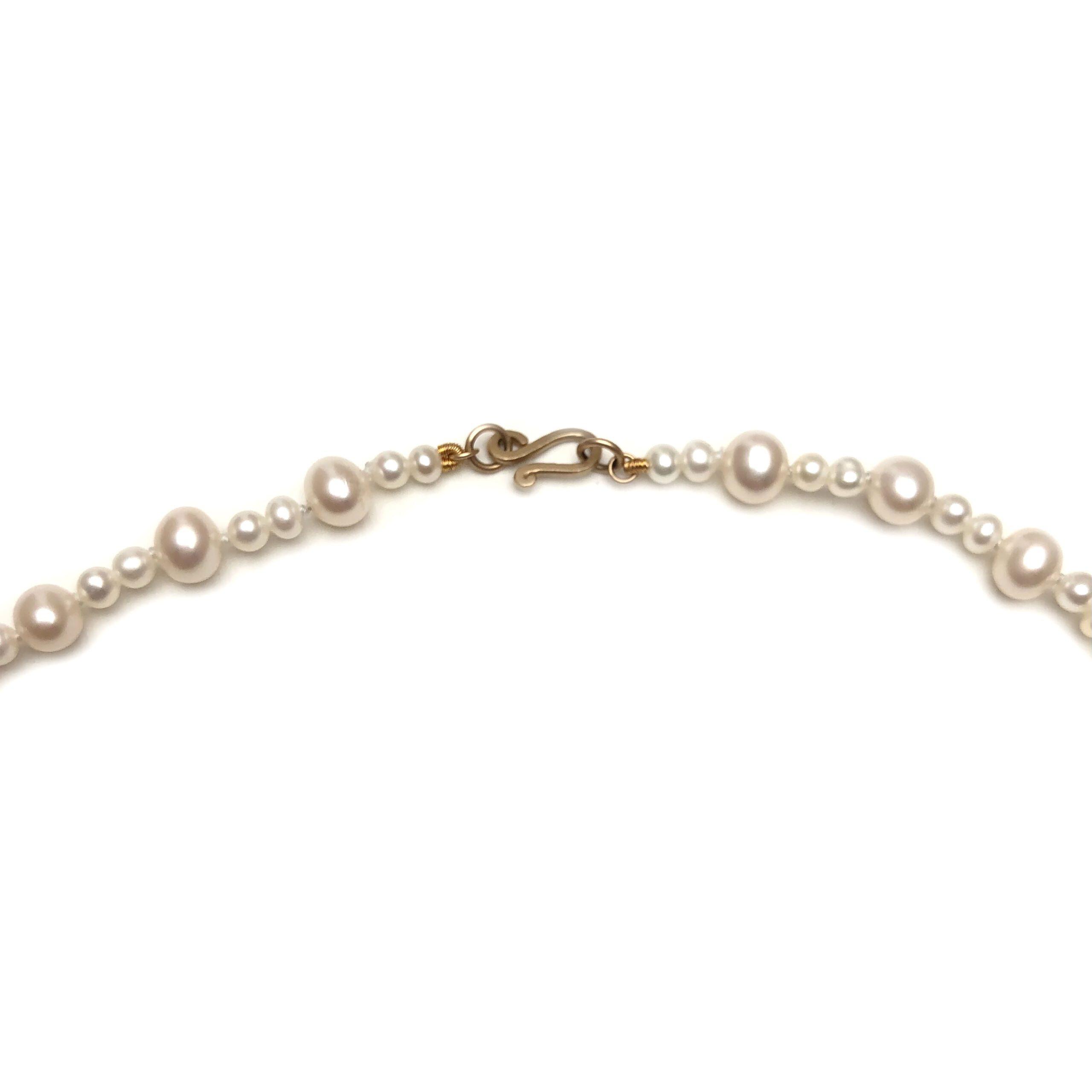 MISS NANJA gold white pearl